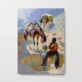 "William Leigh Western Art ""One Good Turn"" Metal Print"