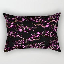 Japanese,sakura tree.Pink cherry blossom flower. Rectangular Pillow