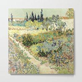 Vincent Van Gogh : Garden at Arles Metal Print