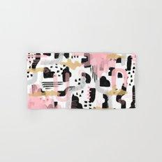 Mosaic Abstract Pink, Black Hand & Bath Towel