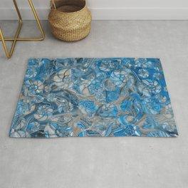 Sea shells pattern marble beach Rug