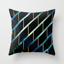 Slated for Storms Throw Pillow