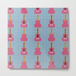 """G'tar Thangs"" guitar pattern Metal Print"