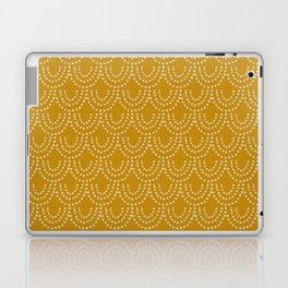Dotted Scallop in Gold Laptop & iPad Skin