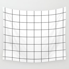 Square Grid Pattern Wall Tapestry