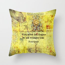 Shakespeare old age funny humorous quote Throw Pillow