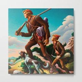 Classical Masterpiece 'The Kentuckian' by Thomas Hart Benton Metal Print