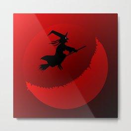 Hallowen Moon Metal Print