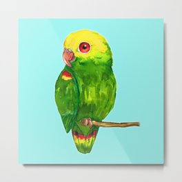 Yellow headed amazon parrot Metal Print