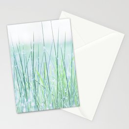 Field of grass in a fresh spring morning Stationery Cards