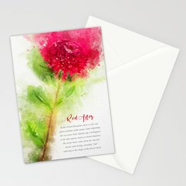 Red Aster Stationery Cards