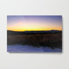 Mountain view Sunset Metal Print