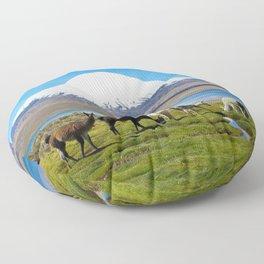 Chungara Lake, Chile Floor Pillow