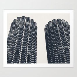 Chicago Architecture, Marina City, Chicago Wall Art, Chicago Art, Chicago Photography, Canvas Art Art Print