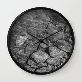 Under Water (Black and White) Wall Clock