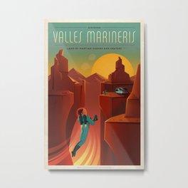 SpaceX Mars tourism poster / VM Metal Print