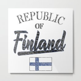 Republic Of Finland Metal Print
