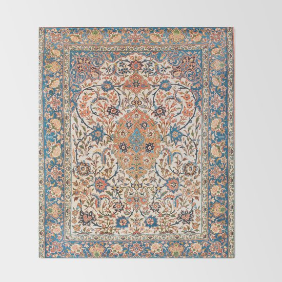 Isfahan Antique Central Persian Carpet Print by vickybragomitchell