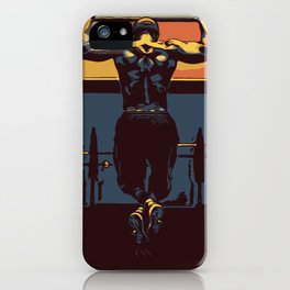 Pull ups at the gym - crossfit iPhone Case