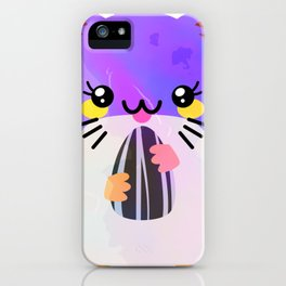 Kawaii Eating Hamster iPhone Case