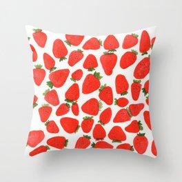 Some Strawberries Throw Pillow