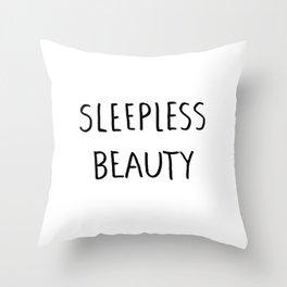 Sleepless Beauty Throw Pillow