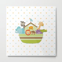 Noah's Ark - White Background Metal Print