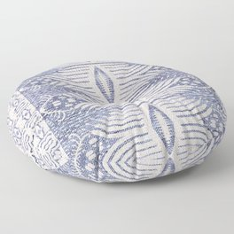 FRENCH LINEN TRIBAL IKAT Floor Pillow