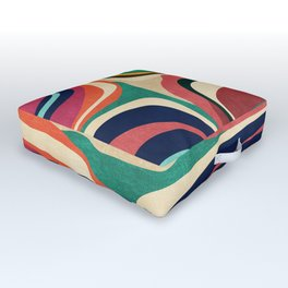Impossible contour map Outdoor Floor Cushion