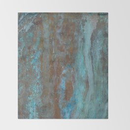 Patina Bronze rustic decor Throw Blanket