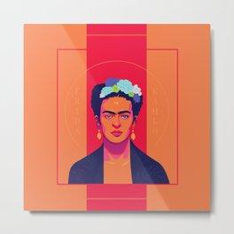 Frida Portrait Metal Print