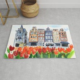 Amsterdam watercolor Rug