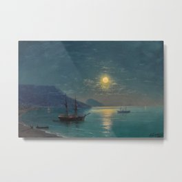 Evening in Crimea by Ivan Aivazovsky Metal Print