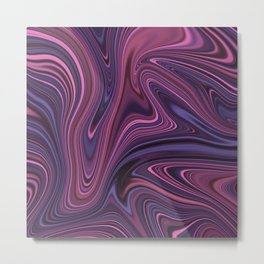 Marble Abstract Art Pattern 003 Metal Print