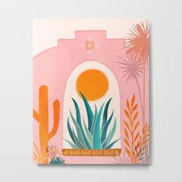 The Day Begins / Desert Garden Landscape Metal Print