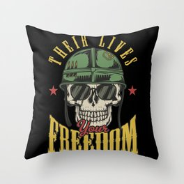 17 Warriors_3 Throw Pillow