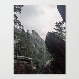 Flat Iron 1 During Rainstorm Canvas Print