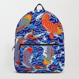 Koi fish / japanese tattoo style pattern Backpack