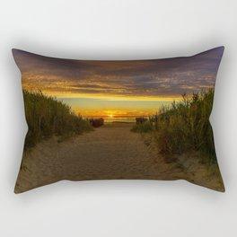 East Beach Sunset - Rhode Island Rectangular Pillow