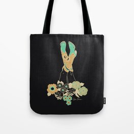 Love Stoned Cowboy Boots - Emerald, Cream, Black Tote Bag
