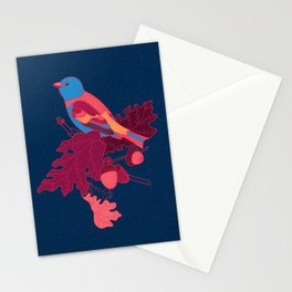 Acorn Branch and Bird Stationery Cards