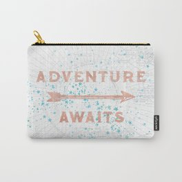 Adventure Awaits Rose Gold Carry-All Pouch