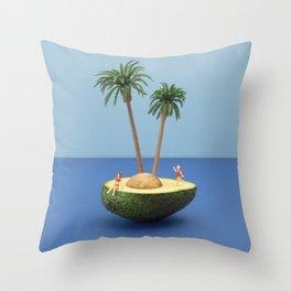 Avocado island Throw Pillow
