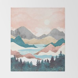 Lake Sunrise Throw Blanket