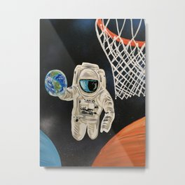 Space Games Metal Print
