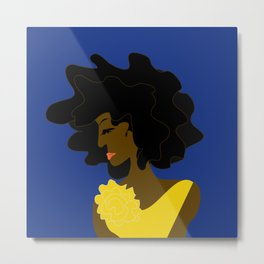 The Lady in Gold Metal Print
