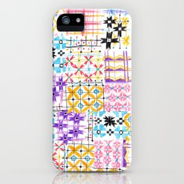 Havana Abstract Boho Tile iPhone Case