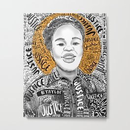 Justice 4 Breonna Taylor-Proceeds will be donated Metal Print