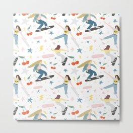 Skater girls Metal Print