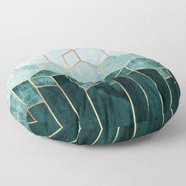 Teal Hexagons Floor Pillow